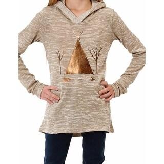 Roper Western Shirt Girls Sweater Hooded Emb Tan 03-009-0513-6024 TA