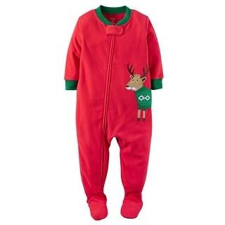 Carters Boys 12-24 Months Reindeer Sleeper - Red