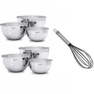 Cuisinart Stainless Steel Mixing Bowls without lids (Set of 6)