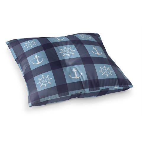 ANCHOR GALORE NAVY and LIGHT BLUE Floor Pillow by Kavka Designs