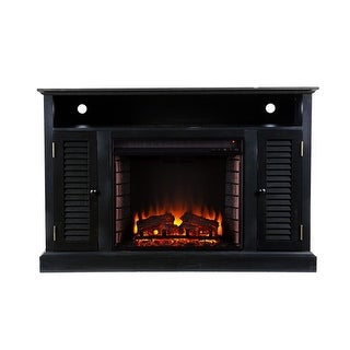 Southern Enterprises FE9300 Antebellum Media Electric Fireplace - Black