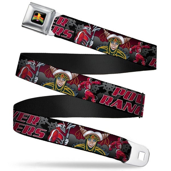 Power Rangers Logo Full Color Power Rangers Lord Zedd Poses Rita Repulsa Seatbelt Belt