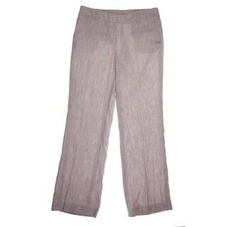 Jones New York Womens Zoe Linen Flare Leg Dress Pants - 10