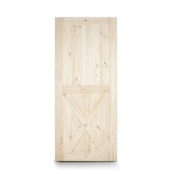 Shop BELLEZE Barn Wood Lower X Sliding Door Classic Pine