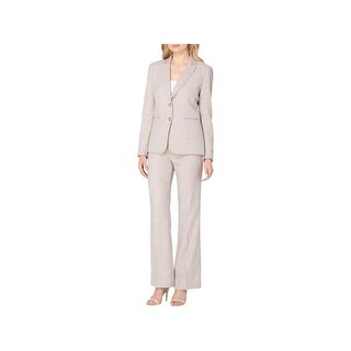 Tahari ASL Womens Petites Pant Suit 2PC Crosshatch