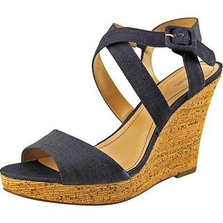 Style & Co Allexus Open Toe Canvas Wedge Heel