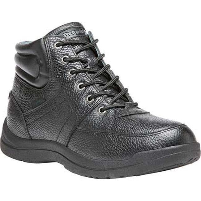 Propet Men's Four Points Mid II Boot Black Full Grain Leather