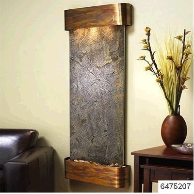 Adagio Inspiration Falls Wall Fountain Green FeatherStone Rustic Copper - IFR101