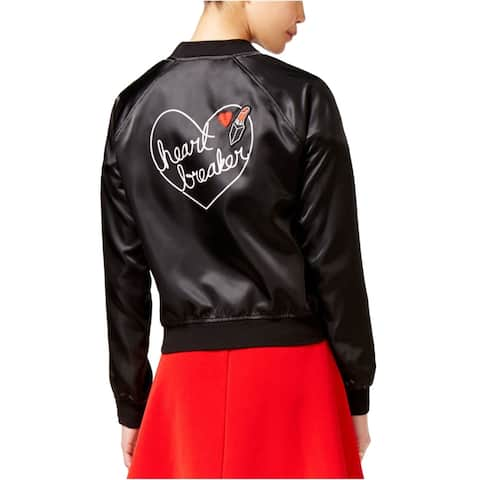 Material Girl Womens Heart Breaker Bomber Jacket