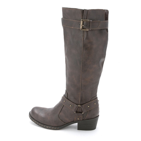 B.O.C Womens Mahers Round Toe Mid-Calf Riding Boots