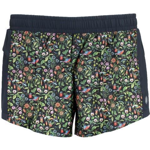 Asics Womens Liberty Print 2-N-1 Short Athletic Shorts Shorts