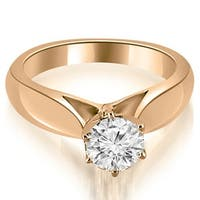 0.50 cttw. 14K Rose Gold Cathedral Solitaire Diamond Engagement Ring