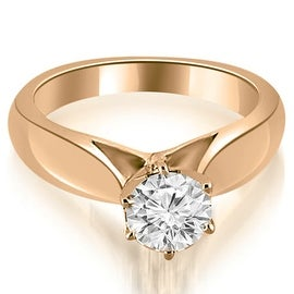 0.75 cttw. 14K Rose Gold Cathedral Solitaire Diamond Engagement Ring