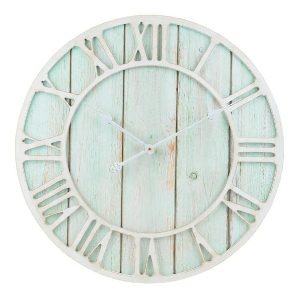 The Gray Barn Cocklebur 23.5-inch Green-Blue Quartz Coastal Wall Clock. Opens flyout.