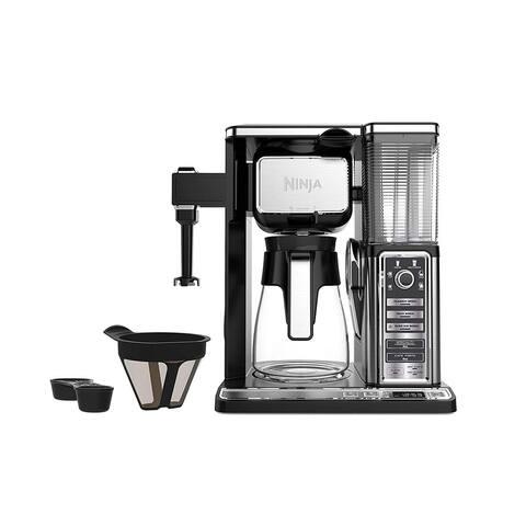 Ninja CF091 Coffee Bar, Black/Silver (Certified Refurbished) - Black