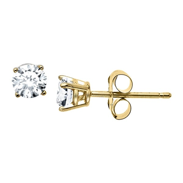 3/8 ct Diamond Stud Earrings in 10K Gold