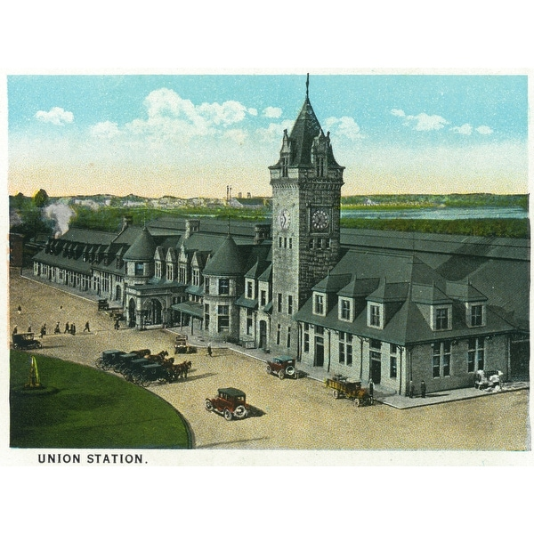 Portland, Maine - Exterior View of Union Station (Art Print - Multiple  Sizes Available) - 9 x 12 Art Print