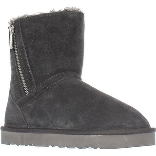 SC35 Ciley Sherling Lined Mid-Calf Winter Boots, Grey
