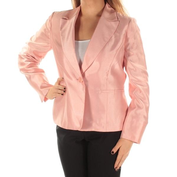 LE SUIT Womens Pink Blazer Wear To Work Jacket Size: 10