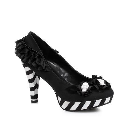 "Womens Dia de los Muertos Black 4"" Costumes Heels"
