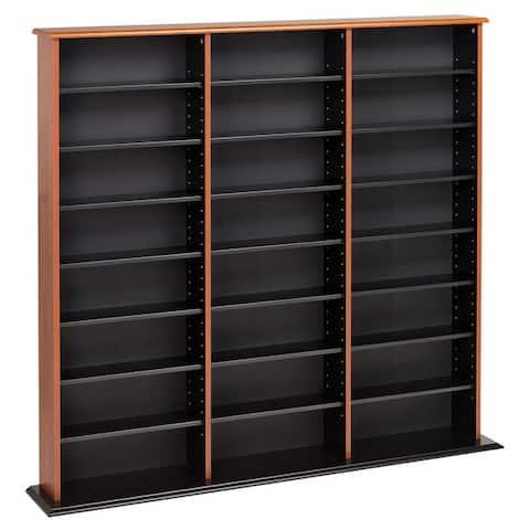 "Prepac Triple Width Multimedia Wall Storage - 56"" W x 51"" H x 8.75"" D"