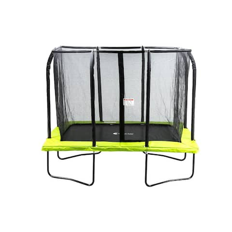 ExacMe 7x10 FT Rectangle Trampoline 4U Legs w/ Safety Pad & Inner Enclosure Net & Ladder ALL-IN-ONE COMBO
