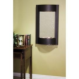 Adagio Serene Waters Wall Fountain - Silver Mirror, Textured Black Frame