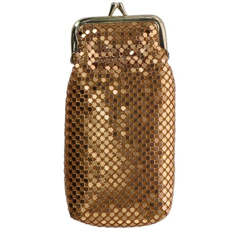CTM® Women's Mesh Cigarette Case with Lighter Pocket and Kiss Lock Closure - one size