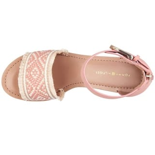 61b1d241b6648 Tommy Hilfiger Womens Yemina Peep Toe Casual Espadrille Sandals - 8