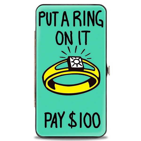 Luxury Tax Ring Put A Ring On It Pay $100 Hinged Wallet - One Size Fits most