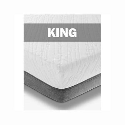 Zaahn King Memory Foam Mattress Topper