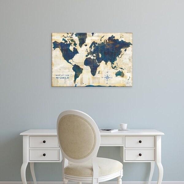 Easy Art Prints Sue Schlabach's 'World Map Collage' Premium Canvas Art