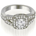 0.85 cttw. 14K White Gold Antique Round Cut Diamond Engagement Ring - Thumbnail 0