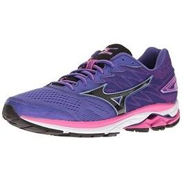 Mizuno Women's Wave Rider 20 Running Shoe, Purple/Black, 6.5 B US