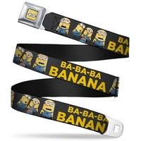 Minion Dave Face Close Up Full Color Minions Group Ba Ba Ba Banana Gray Seatbelt Belt