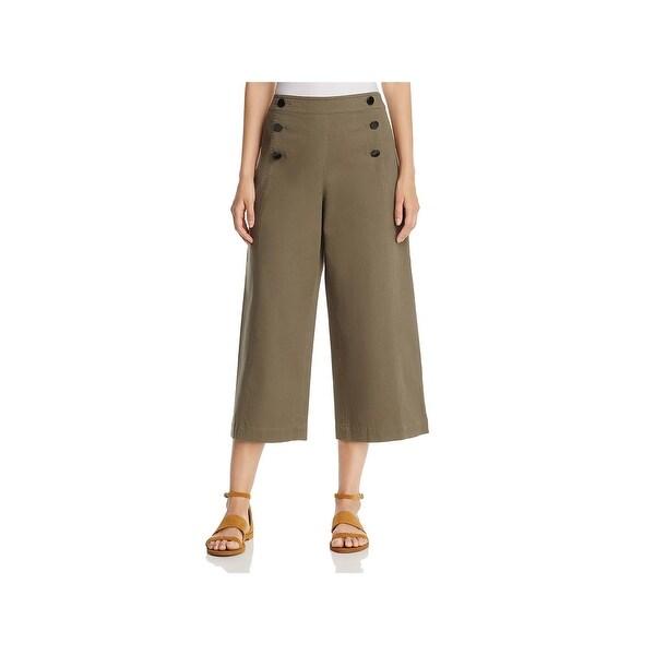 df42f90b57 Shop Kate Spade Womens Sailor Pants Cropped Wide-Leg - Free Shipping ...