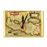 Palestine - (1782) - Panoramic Map (Acrylic Wall Clock) - acrylic wall clock