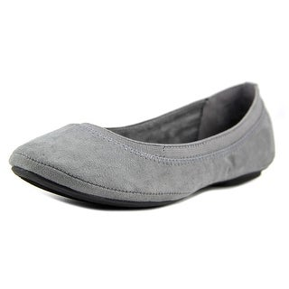 Bandolino Edition Women  Round Toe Canvas Gray Ballet Flats