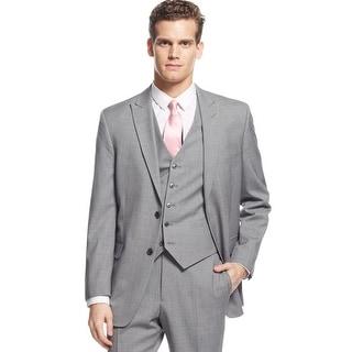 Tommy Hilfiger Dallas Trim Fit Grey Striped Wool Sportcoat Blazer 48 Regular 48R
