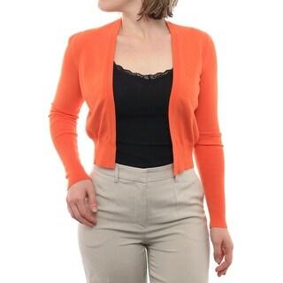 Lavia Long Sleeve Open Neck Cropped Cardigan Women Regular Sweater