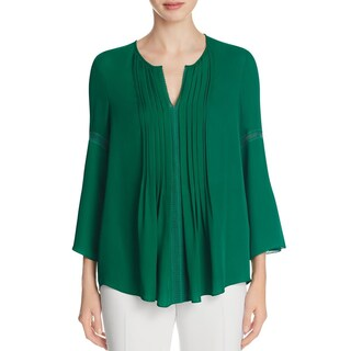 Elie Tahari Womens Orion Blouse Silk Lace Trim