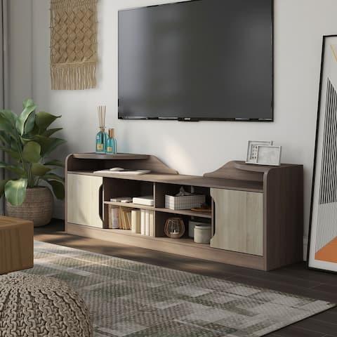 Furniture of America Fetz 72-inch Multi-functional Storage TV Console