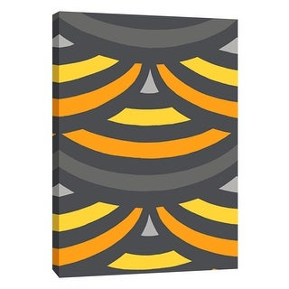 """PTM Images 9-105717  PTM Canvas Collection 10"""" x 8"""" - """"Monochrome Patterns 2 in Yellow"""" Giclee Abstract Art Print on Canvas"""