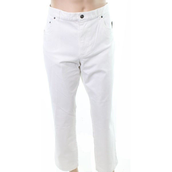f2438313a Shop Tasso Elba White Mens Size 34X30 Classic-Fit Stretch Vintage Jeans -  On Sale - Free Shipping On Orders Over $45 - Overstock - 27047926