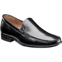 Nunn Bush Men's Glenwood Slip 84514 Moc Toe Slip On Loafer Black Leather