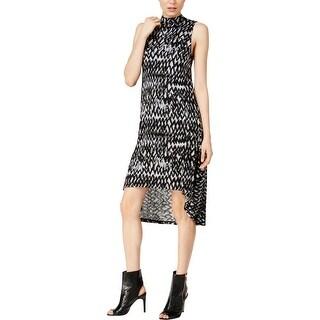 Kensie Womens Casual Dress Zig Zag Print Lined