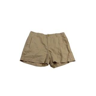 Lauren Ralph Lauren Tan Linen Blend Cargo Shorts 10