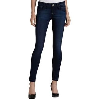 DL1961 Womens Amanda Skinny Jeans Denim Whisker Wash