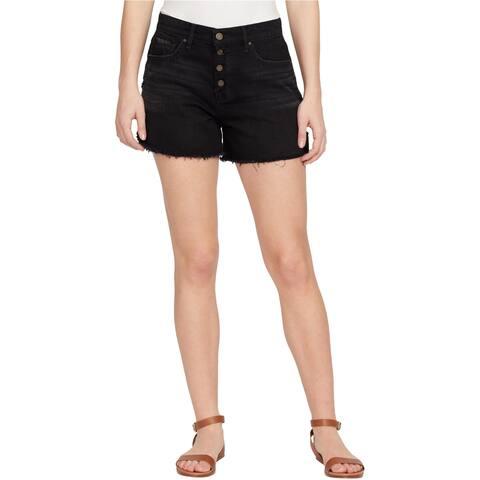 William Rast Womens Button-Up Casual Denim Shorts - 28