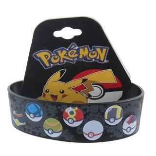 Pokemon Multi-Style Pokeballs Youth Silicone Wristband - multi